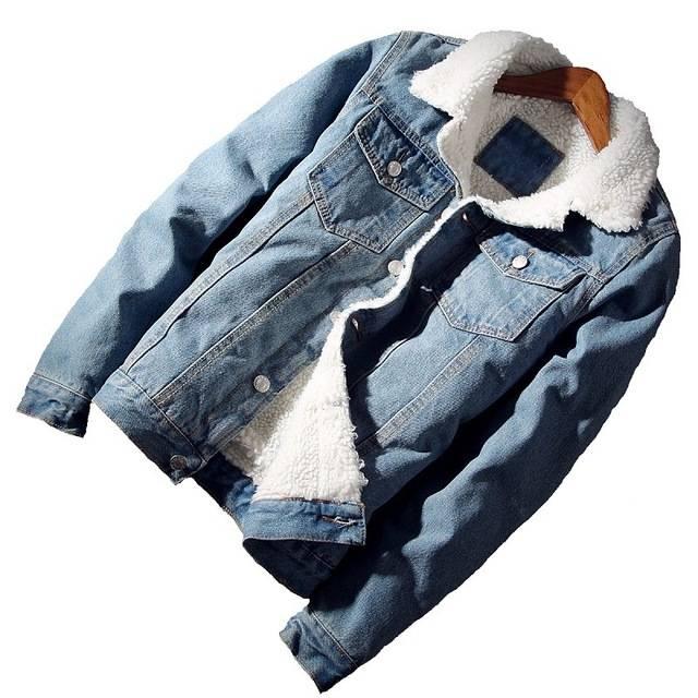 Unisex Denim Jacket with Wool Liner Jackets Jackets & Coats Shop