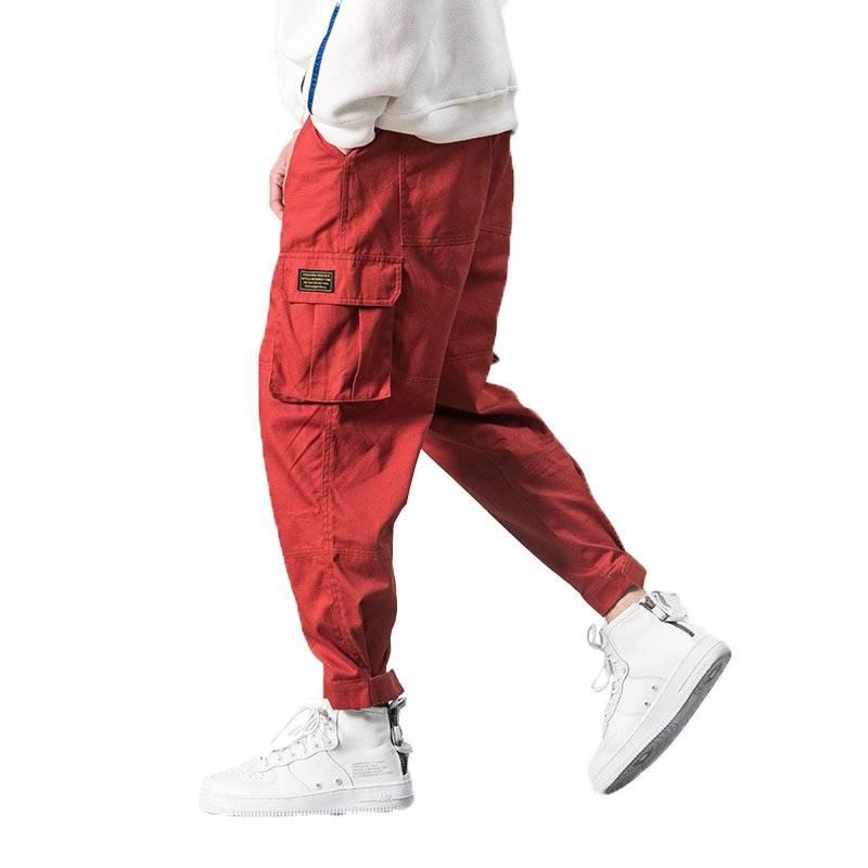 Men's Multi-Pocket Harem Pants BOTTOMS Casual Pants / Trousers Men's Clothing & Accessories Pants Pants / Trousers