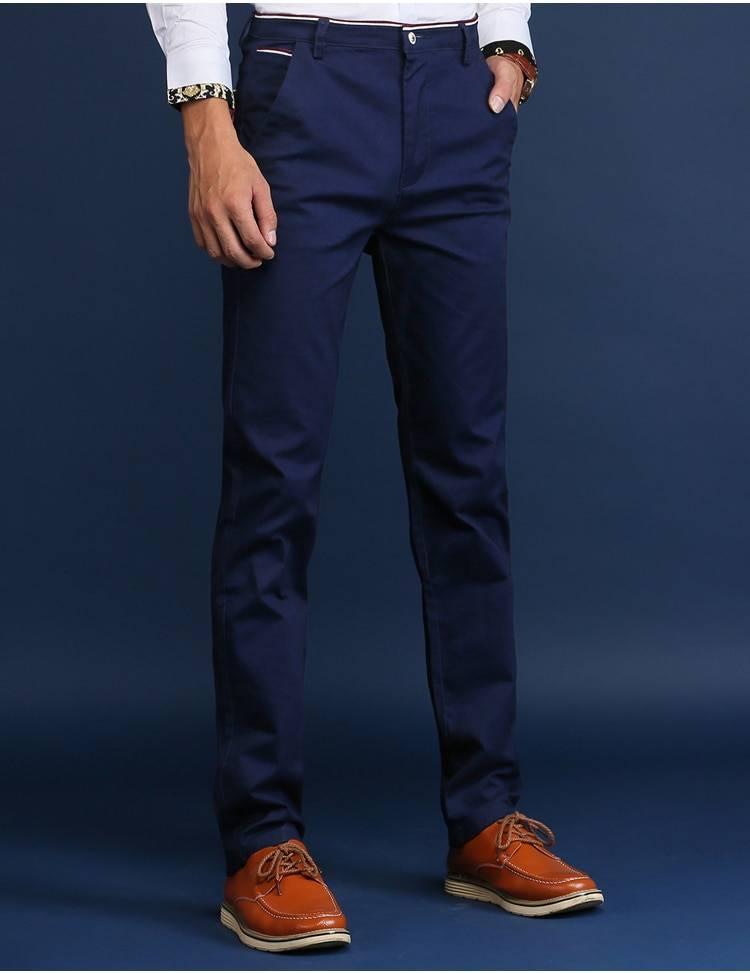 Classic Cotton Pants for Men BOTTOMS Casual Pants / Trousers Men's Clothing & Accessories Pants Pants / Trousers