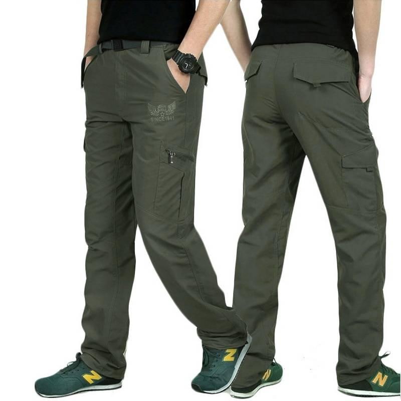 Men's Breathable Summer Cargo Pants BOTTOMS Casual Pants / Trousers Men's Clothing & Accessories Pants Pants / Trousers