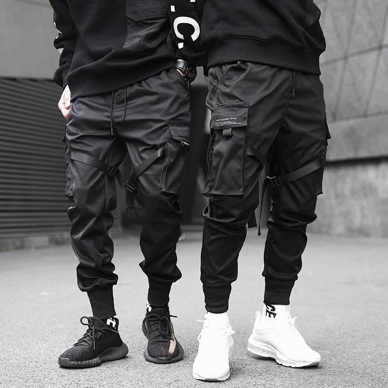 Men's Harajuku Black Joggers BOTTOMS Casual Pants / Trousers Men's Clothing & Accessories Pants Pants / Trousers