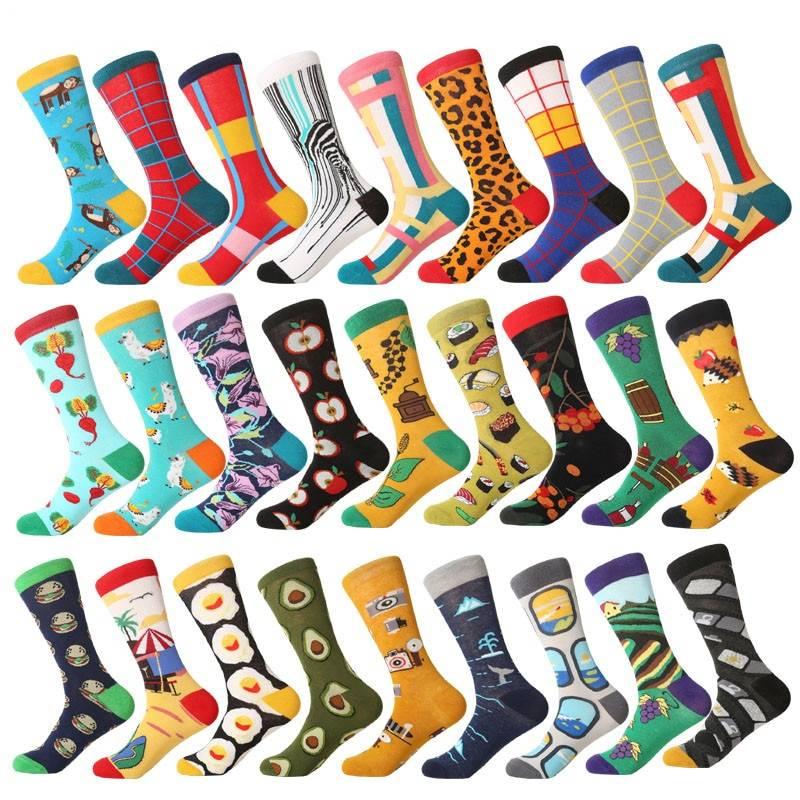 Men's Funny Printed Socks Men's Clothing & Accessories Socks