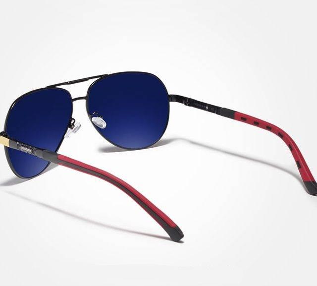 Men's Classic Design Polarized Aluminum Sunglasses Men's Sunglasses Sunglasses & Glasses Color : Gold Black|Silver Black|Gray Black|GrayFrameBlue|Silver Red|Red Brown