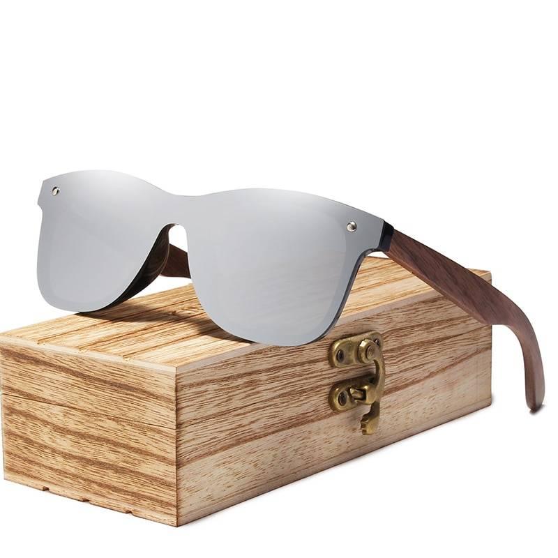 Men's Wooden Frame Polarized Sunglasses Men's Sunglasses Sunglasses & Glasses