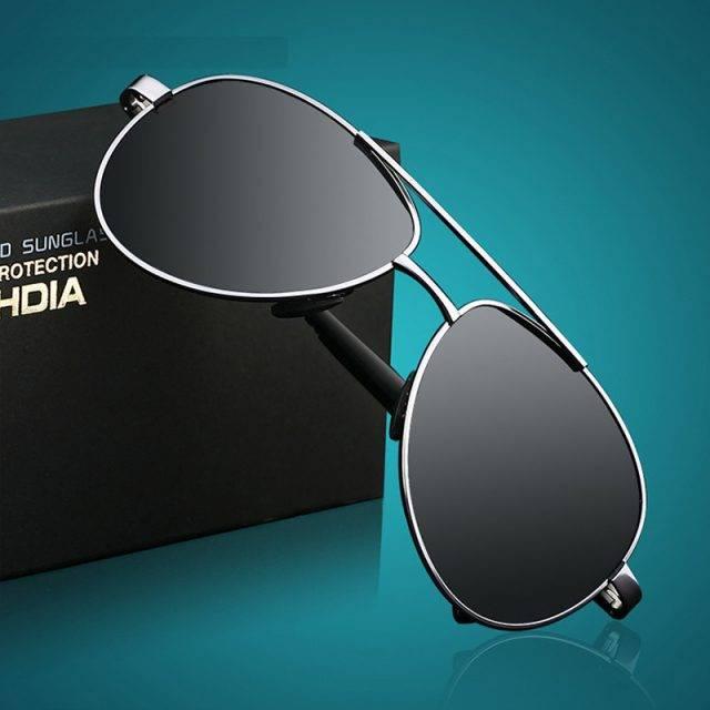 Men's Designer Pilot Sunglasses Men's Sunglasses Sunglasses & Glasses Color : Black Gray Silver Gold