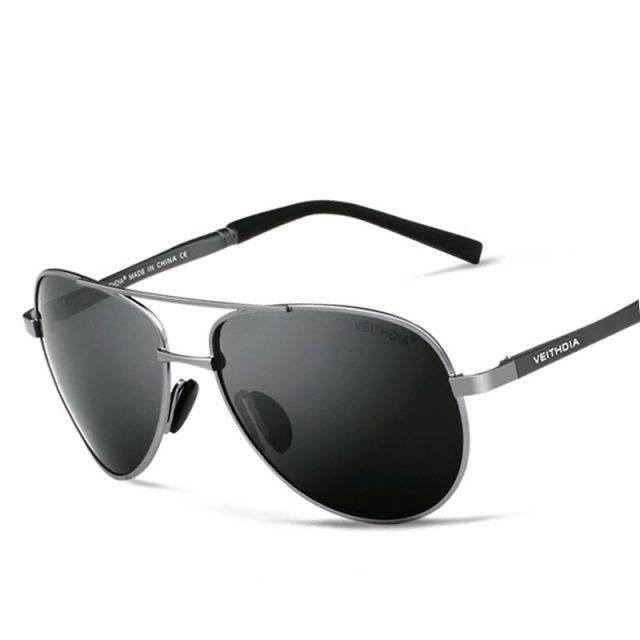 Men's Designer Pilot Sunglasses Men's Sunglasses Sunglasses & Glasses Color : Black|Gray|Silver|Gold