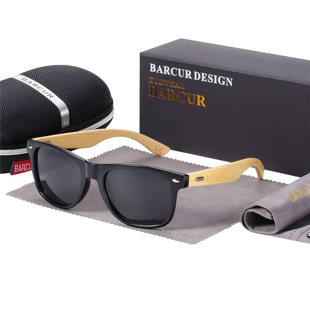 Men's Polarized Bamboo Sunglasses Men's Sunglasses Sunglasses & Glasses