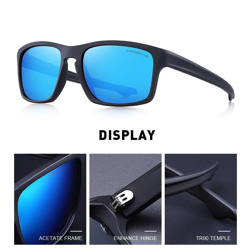 Men's Square Shaped Classic Polarized Sunglasses Men's Sunglasses Sunglasses & Glasses