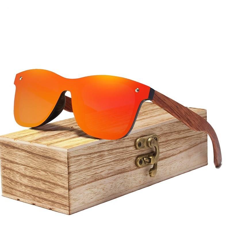 Men's Wooden Frame Rimless Polarized Sunglasses Men's Sunglasses Sunglasses & Glasses