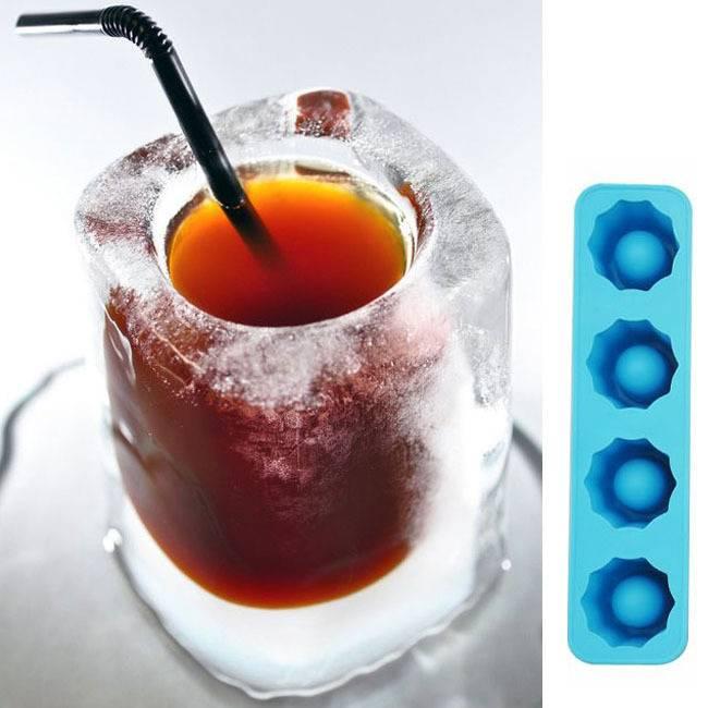 Shot Glasses Ice Cube Tray Bar Ice Cubes, Buckets & Tongs Random