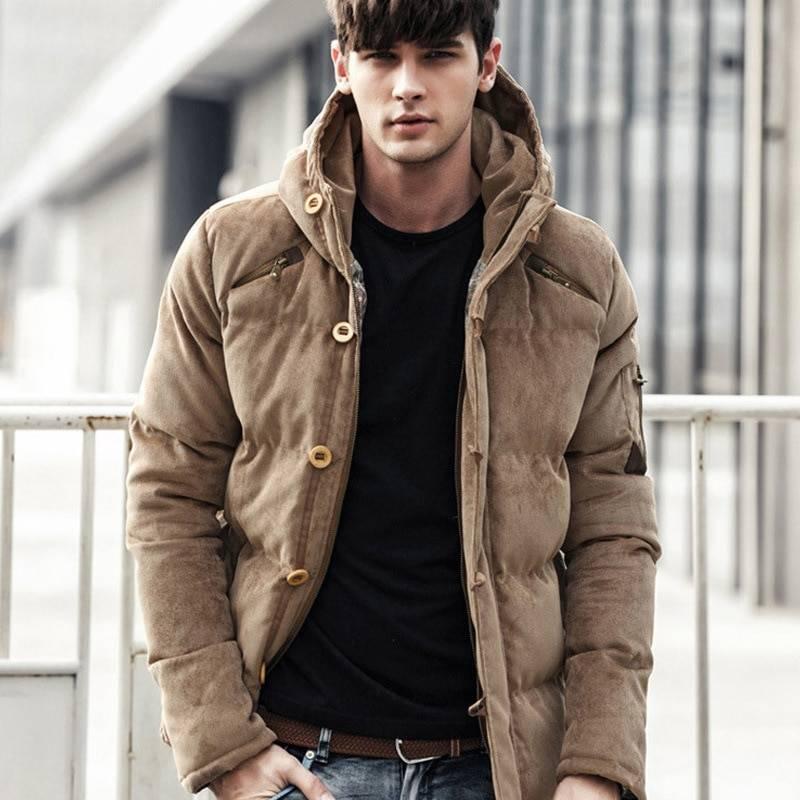 Stylish Windproof Padded Cotton Men's Parka Jacket Jackets & Coats Men's Clothing & Accessories Parkas
