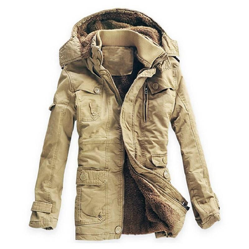 Stylish Warm Padded Cotton Men's Parka Jacket Jackets & Coats Men's Clothing & Accessories Parkas