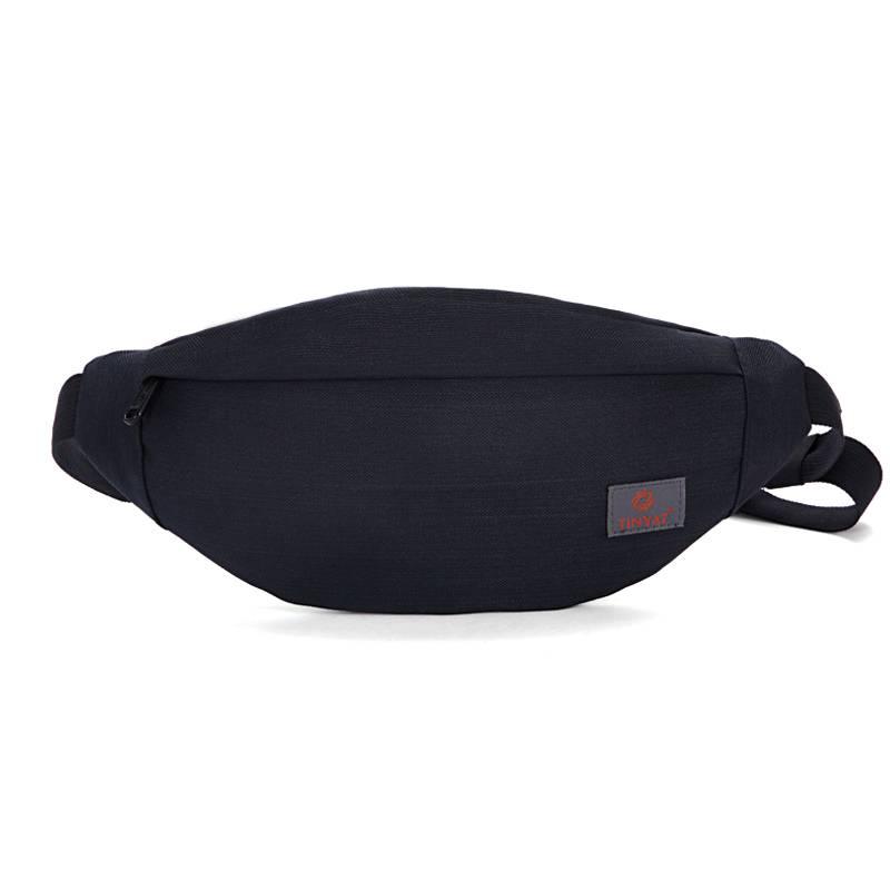 Men's Solid Patterned Waist Bag Bags & Wallets Waist Bags
