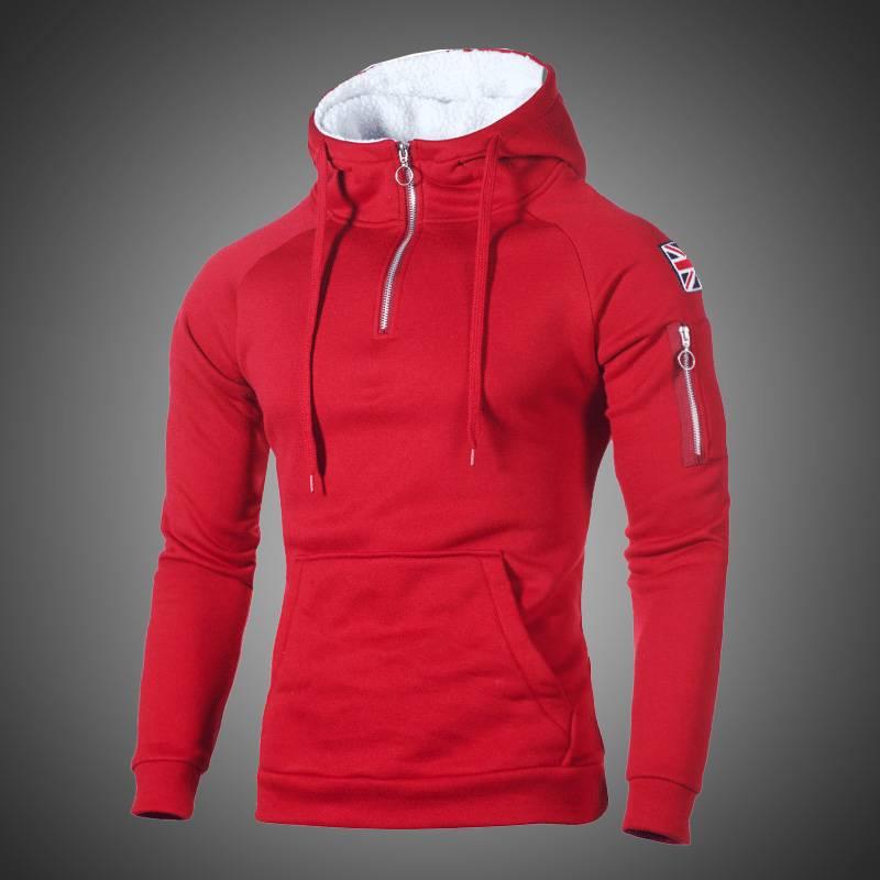 Hip Hop Zipper Hooded Sweatshirt Hoodies Shop