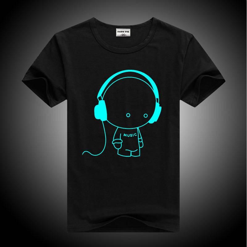Men's Luminous Printed T-Shirt Men's Clothing & Accessories Tops & Tees
