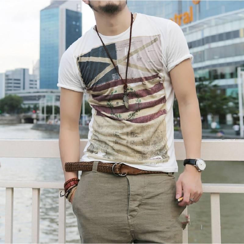 Men's Printed Short Sleeve T-Shirt Men's Clothing & Accessories Tops & Tees
