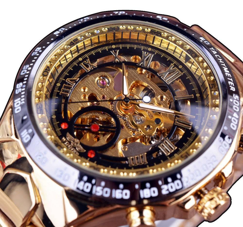 Men's Stainless Steel Skeleton Watch Men's Watches Watches