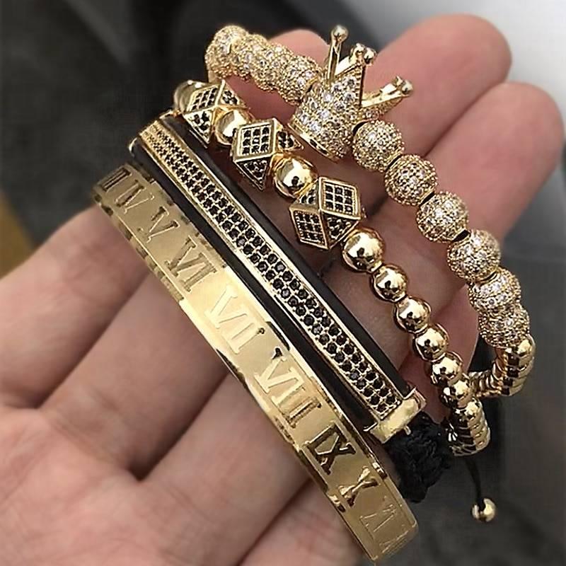 Men's Crown Decorated Bracelet Bracelets Men Jewelry