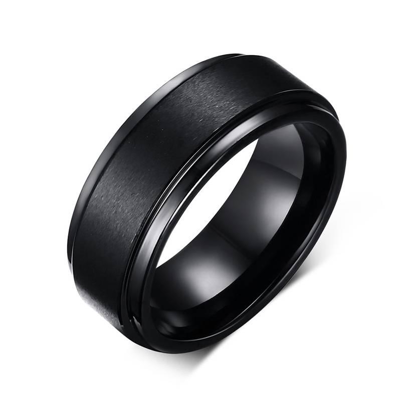 Men's Wedding Matte Band Rings Men Jewelry Rings