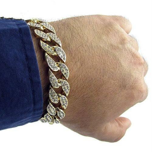 Men's Luxury Iced Out Rhinestone Bracelets Bracelets Men Jewelry
