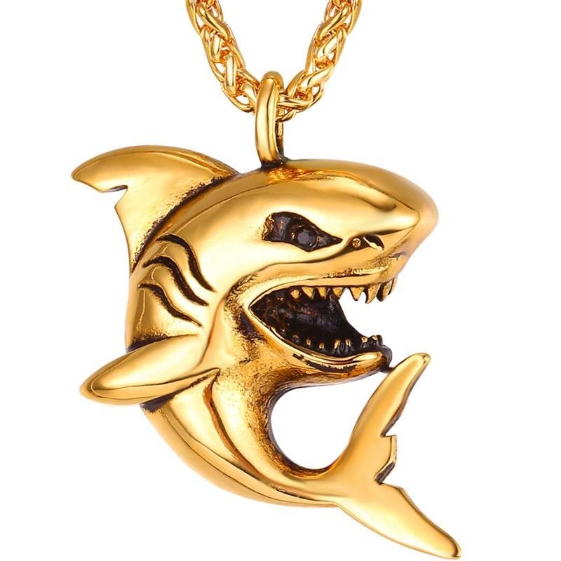 Shark Design Steel Men's Pendant Necklace Men Jewelry Necklaces