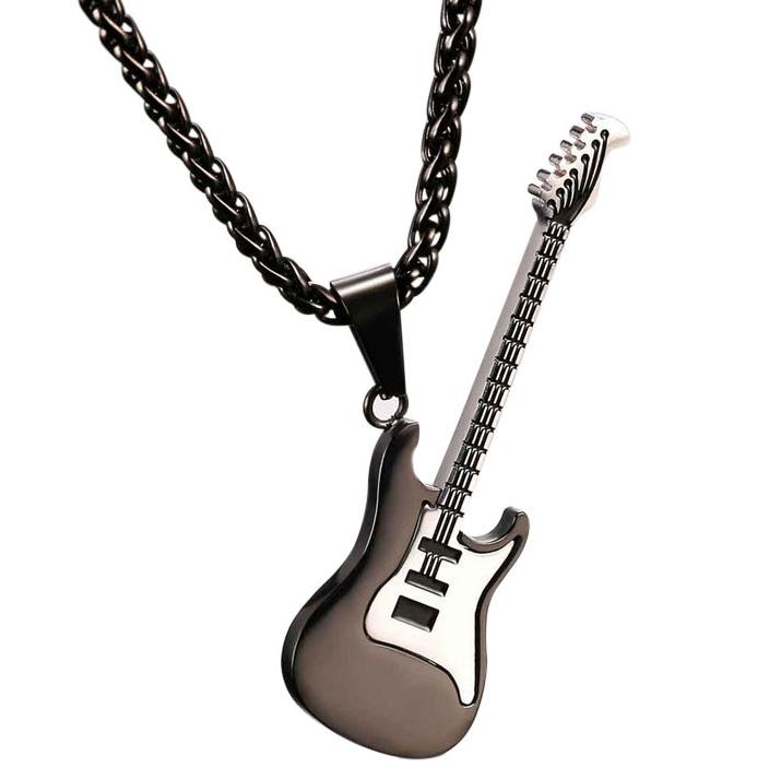 Rock Style Guitar Design Men's Pendant Necklace Men Jewelry Necklaces
