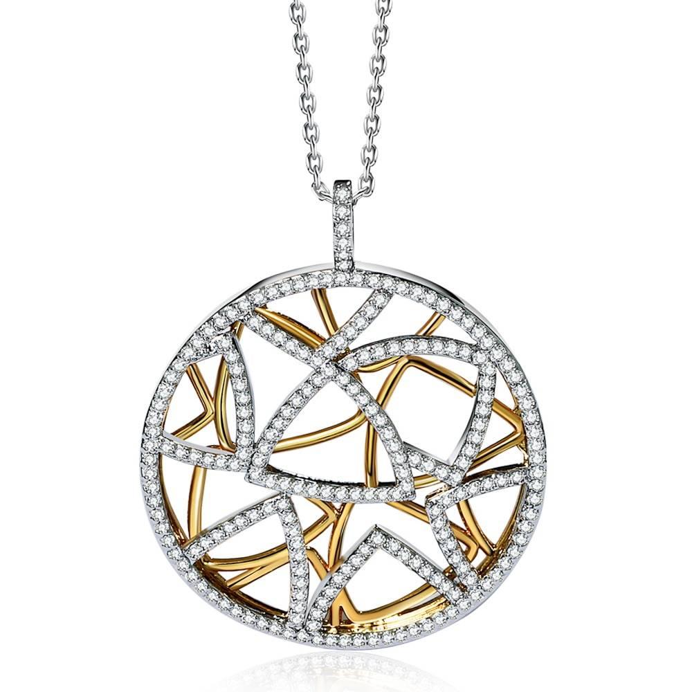 Women's Elegant Silver Round Necklace Men Jewelry Necklaces