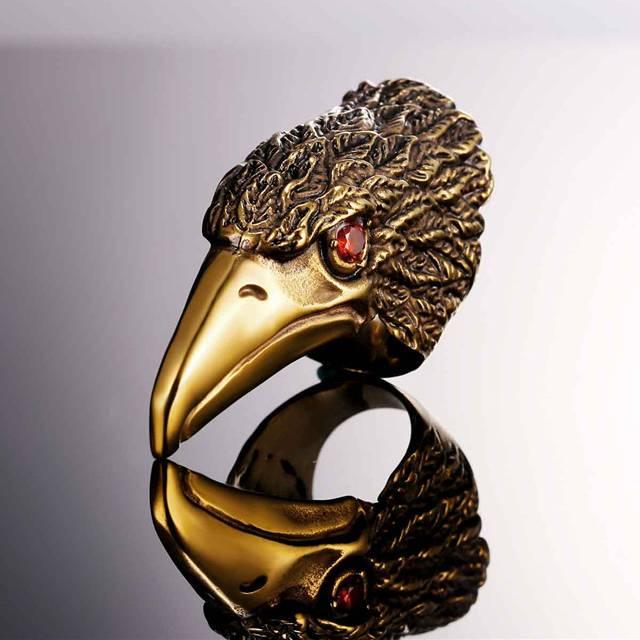 Steel Eagle Design Men's Statement Ring Men Jewelry Rings