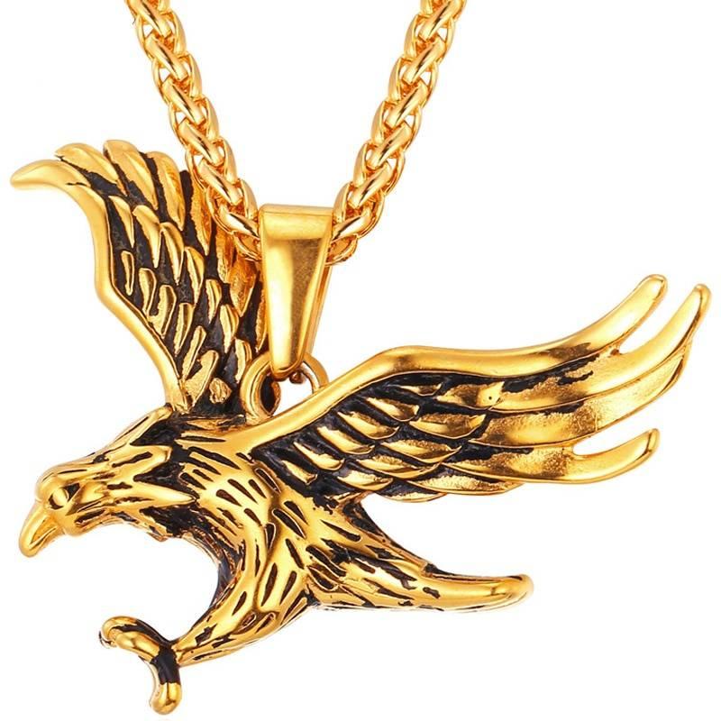 Eagle Design Steel Men's Pendant Necklace Men Jewelry Necklaces