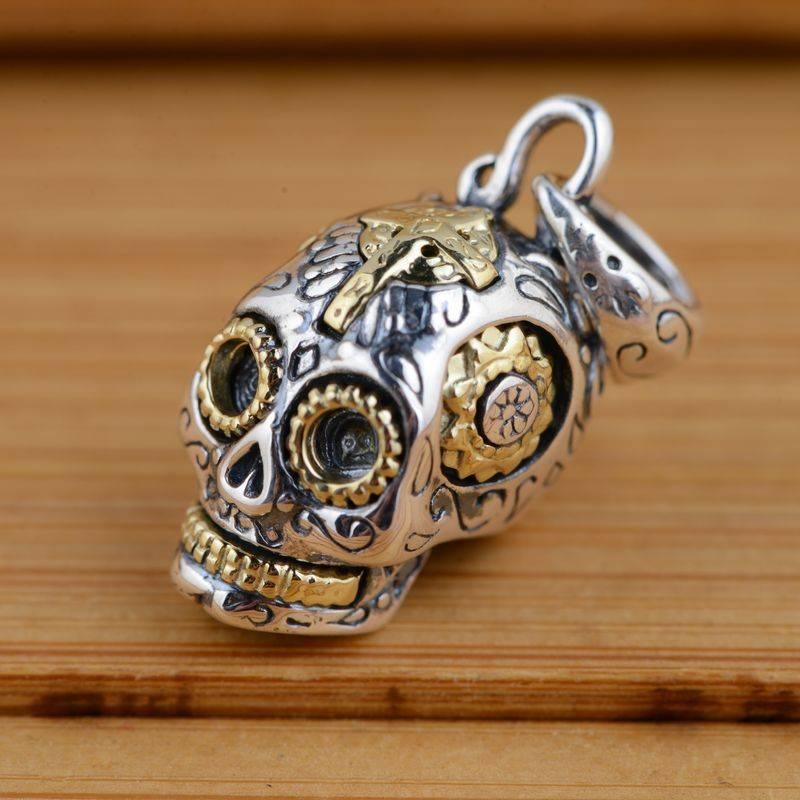 925 Silver Skull Pendants for Men Men Jewelry Necklaces