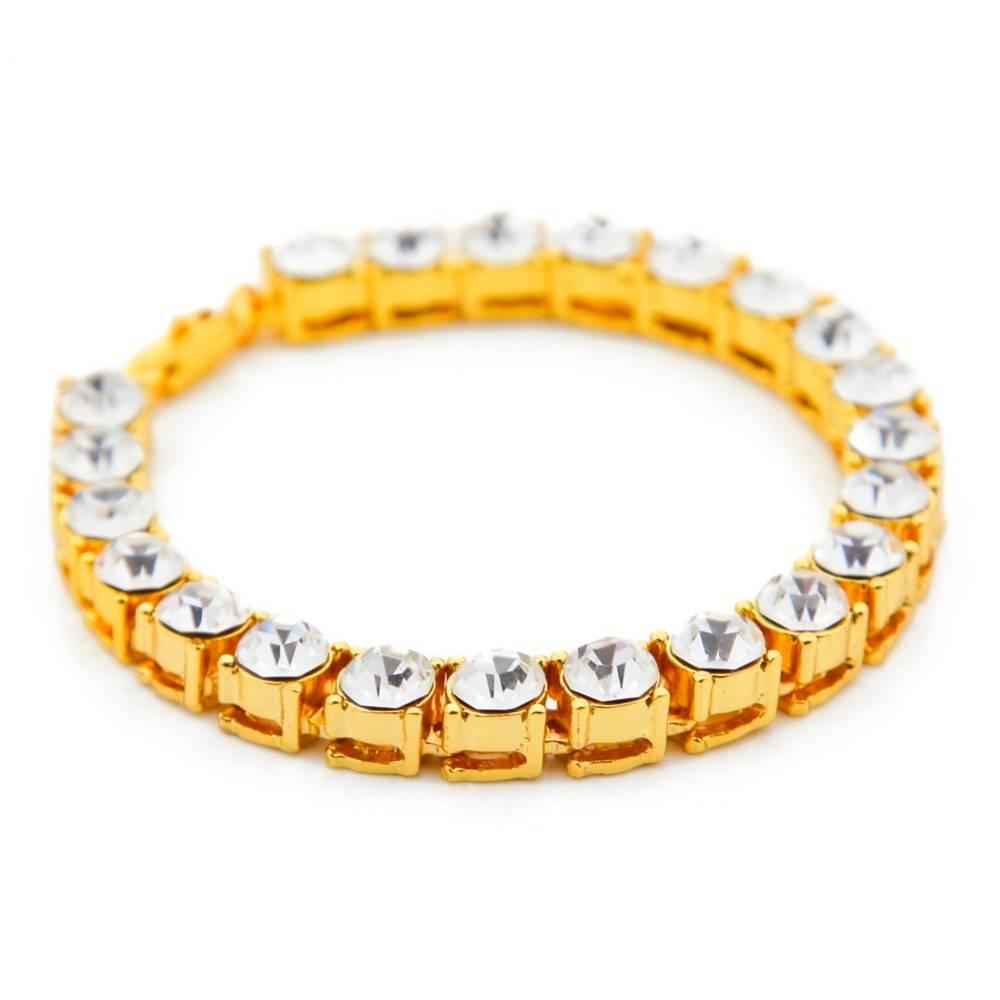 Men's Iced Out Shining One Row Rhinestones Bracelets Bracelets Men Jewelry