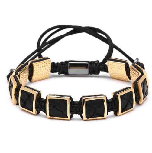 Elegant Copper & Leather Men's Bracelet Bracelets Men Jewelry