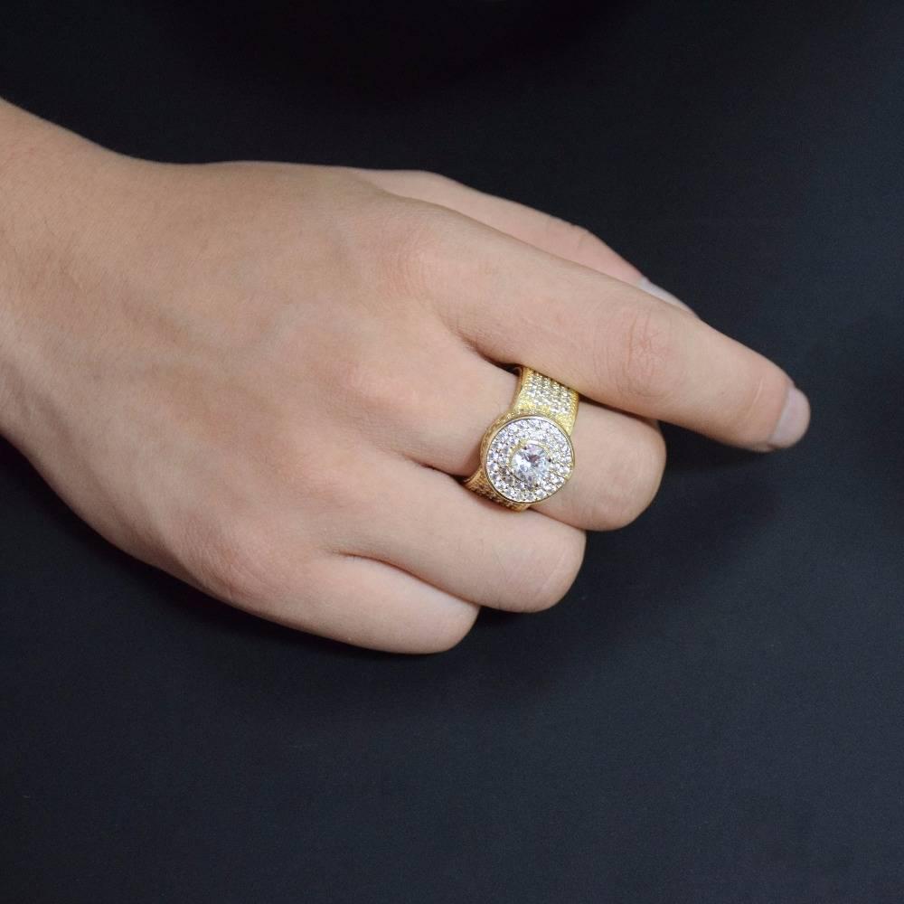 Men's Fashion Hip Hop Rhinestone Rings Men Jewelry Rings