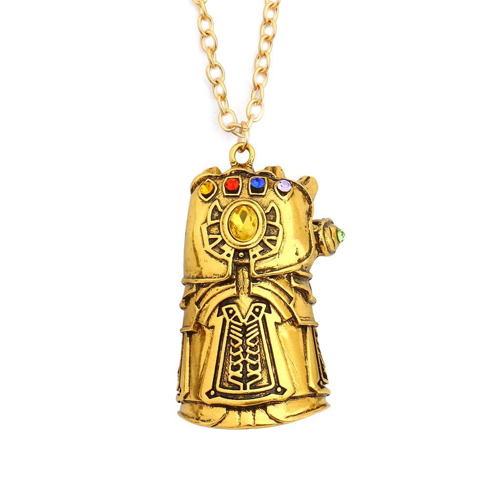 Infinity War Gauntlet Pendant Necklace Men Jewelry Necklaces
