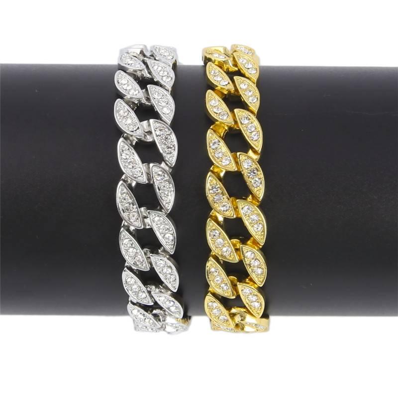 Men's Iced Out Link Chain Bracelets Bracelets Men Jewelry