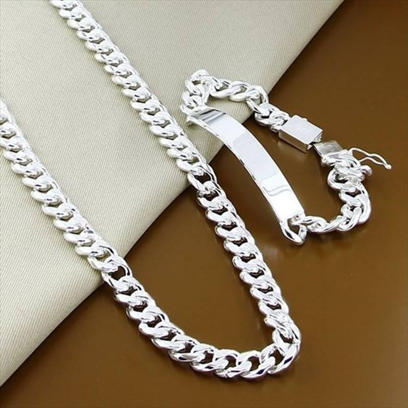 Men's Chain Necklace and Bracelet Set Bracelets Men Jewelry