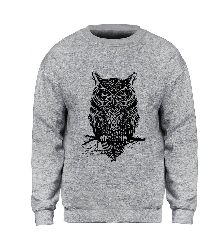 Casual Winter Owl Printed Men's Cotton Sweatshirt Hoodies & Sweatshirts Men's Clothing & Accessories