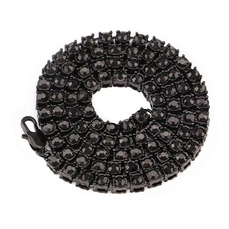 Men's Hip Hop One Row Rhinestone Chains Men Jewelry Necklaces