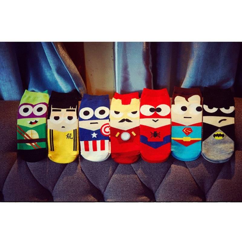 Marvel Characters Printed Socks 7 Pairs Set Men's Clothing & Accessories Socks