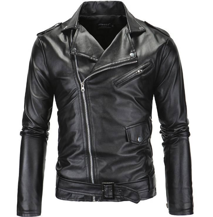 Men's Classic Style Biker Jacket Jackets Jackets & Coats Men's Clothing & Accessories