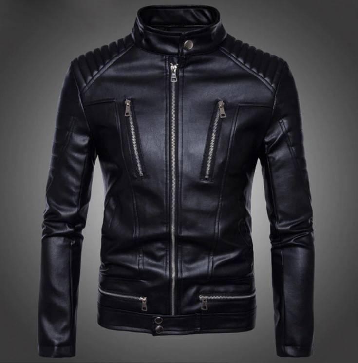 Men's British Style Quilted Biker Jacket Jackets Jackets & Coats Men's Clothing & Accessories