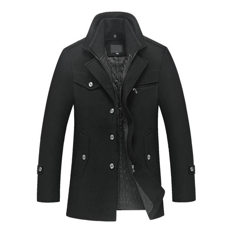 Men's Winter Woolen Jacket Jackets Jackets & Coats Men's Clothing & Accessories