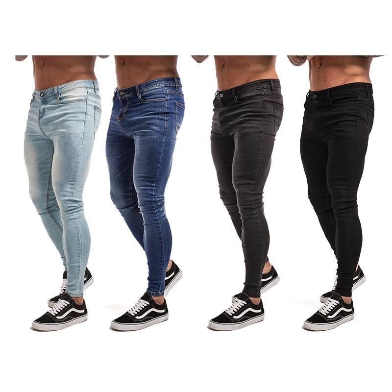 Men's Hip-Hop Style Stretch Jeans BOTTOMS Jeans Men's Clothing & Accessories