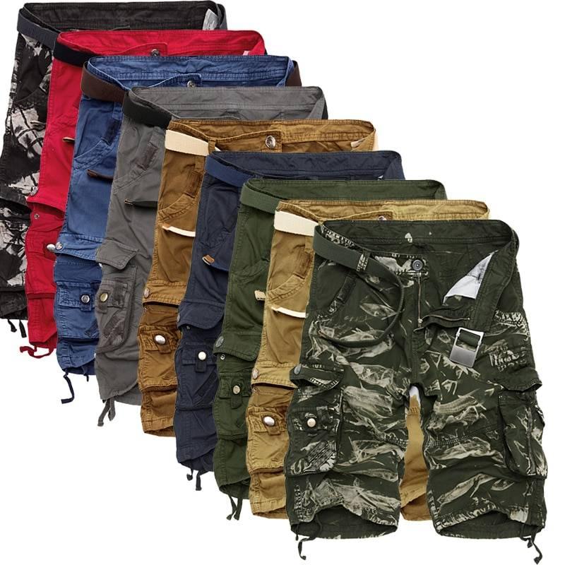 Men's Cotton Casual Cargo Shorts BOTTOMS Men's Clothing & Accessories Shorts