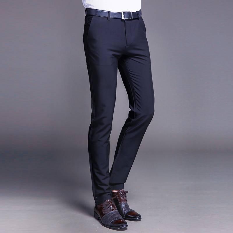 Slim Cotton Pants BOTTOMS Formal Pants / Trousers Men's Clothing & Accessories Pants Pants / Trousers
