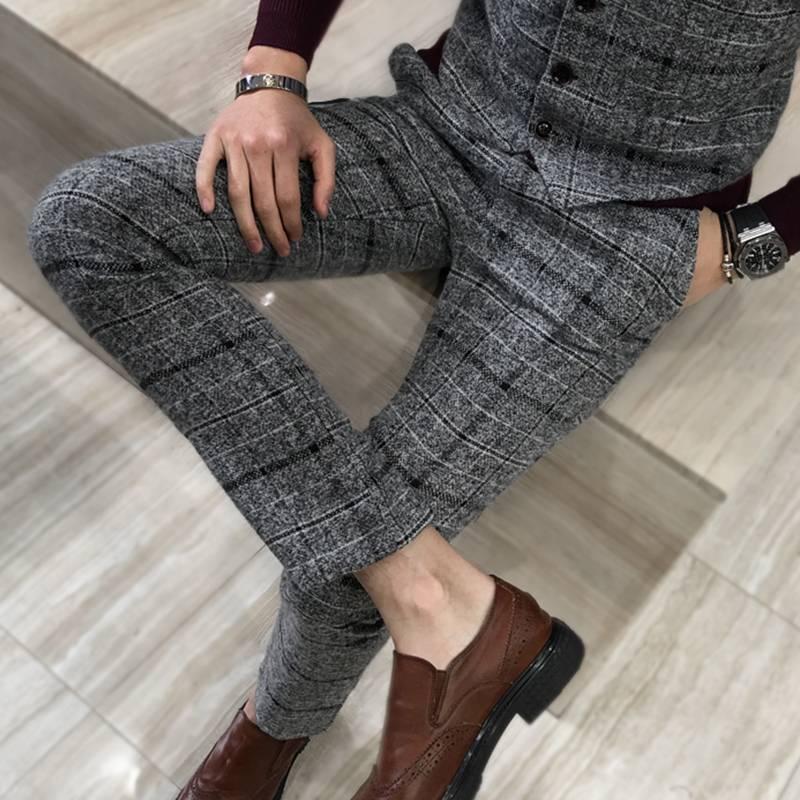 Men's Plaid Formal Pants BOTTOMS Men's Clothing & Accessories Pants