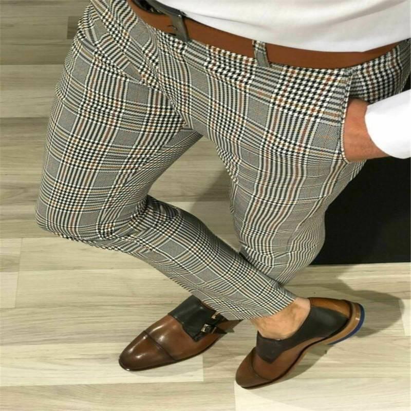 Men Casual Slim Fit Skinny Business Pants Formal Pants / Trousers