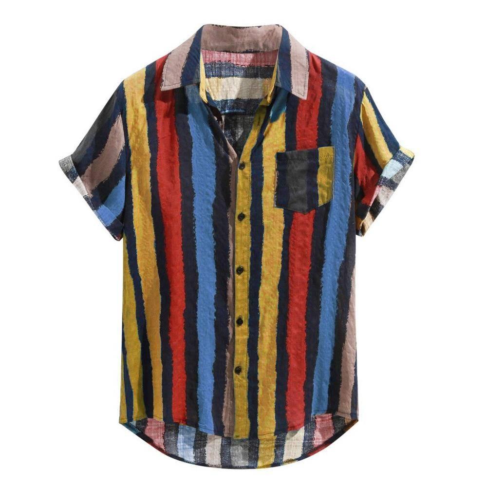 Mens Cotton Short Sleeve Shirt Shirts