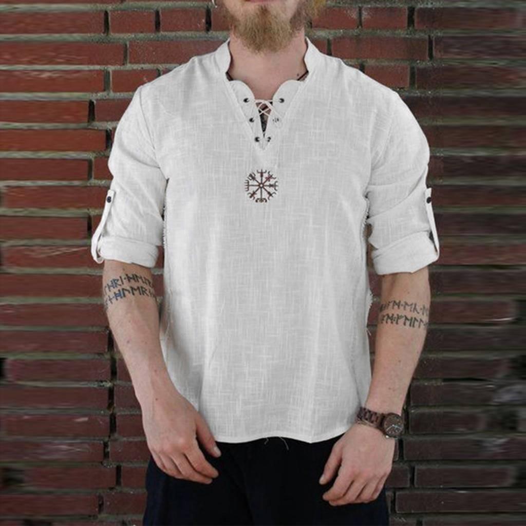 Men's Summer Fashionable Linen Shirt Shirts