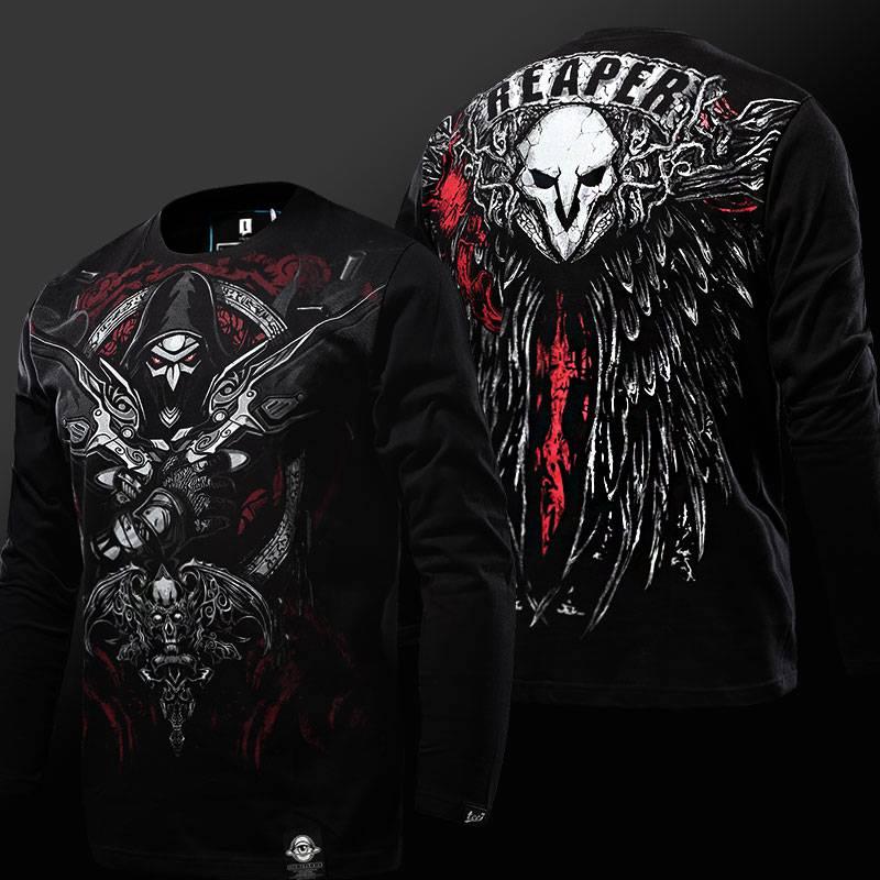 Reaper Long Sleeve Black Genji Hanzo T-Shirt T-Shirts